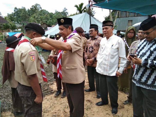 Wabup Solok Selaku Ketua Kwarcab Buka SLC MAN 1 Solok di Muaro Paneh