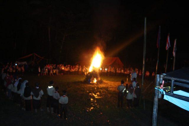 Api Unggun Tutup SCC MAN 1 Solok di Muaro Paneh