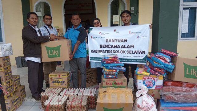 PT Mitra Kerinci Bantu Korban Banjir Solok Selatan