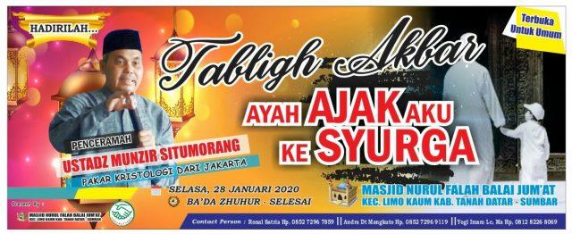 Masjid Nurul Falah Limo Kaum Gelar Tabligh Akbar