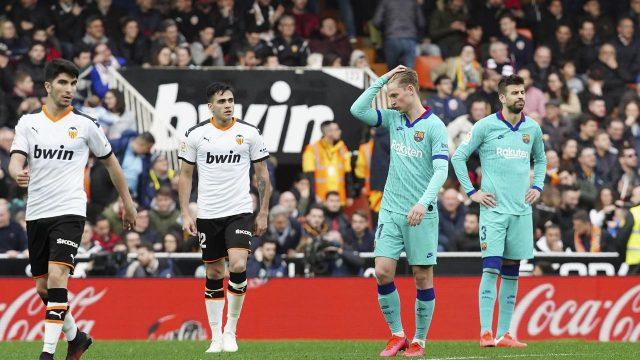 Valencia Hajar Barcelona 2-0, Real Madrid Berpeluang Rebut Pimpinan Klasemen