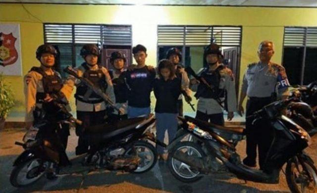 Tim Patroli Brimob Ringkus Pelaku Curanmor di Padang
