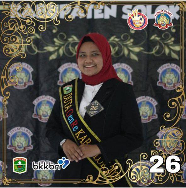 Dukung Tasya Rizki Ananda Putri dari MAN 1 Solok pada Pemilihan Duta GenRe 2020