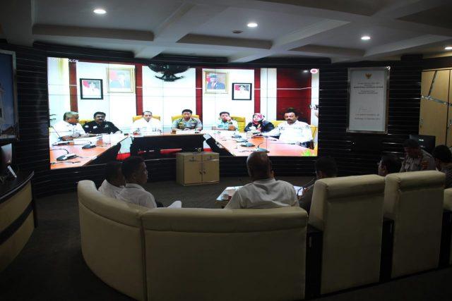 Lewat Video Conference, Sekdako Bukittinggi Sampaikan Kesiapan Pilkada