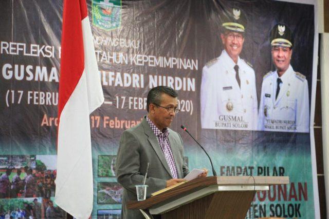 Empat Tahun Gusmal-Yulfadri Nurdin, Launching Buku Empat Pilar Pembangunan