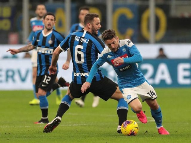 Coppa Italia, Napoli Taklukkan Inter Milan di Kandang 0-1