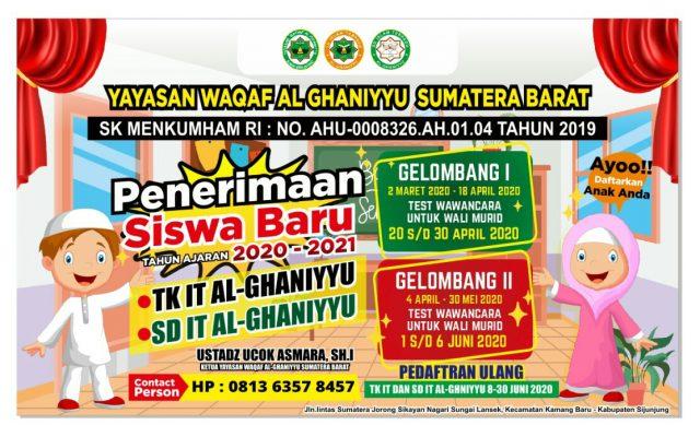 Rumah Tahfidz Sukses, Yayasan Al-Ghanniyyu Buka TK-IT dan SD-IT