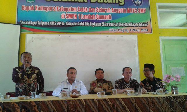 Anggota DPRD Jaring Informasi dari MKKS SMP Kabupaten Solok