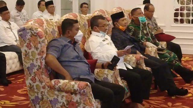 Terkait Covid-19, Bupati Solok Lakukan Video Conference dengan Gubernur