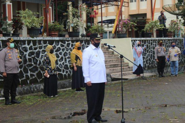 Gelar Apel Pelaksanaan PSBB, Bupati Solok; Tegakkan Aturan