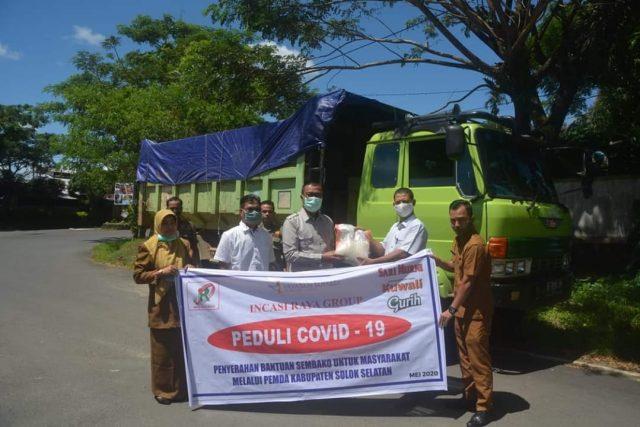Swasta Bantu Masyarakat Terdampak Covid-19 di Solok Selatan