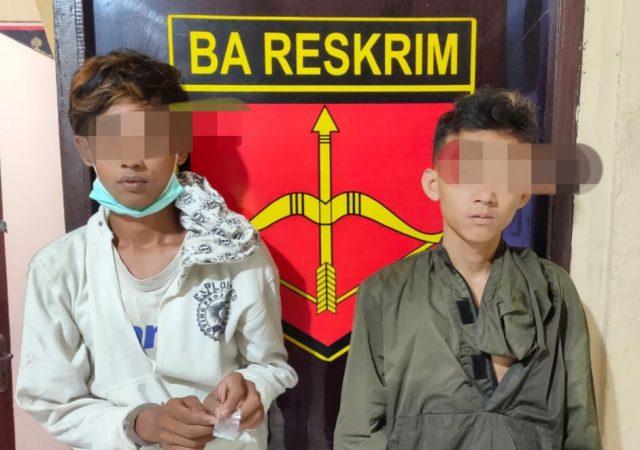 Polres Solok Tangkap 2 Remaja Pengguna Narkoba di Gauang