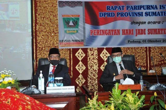 DPRD Sumbar Gelar Rapat Istimewa Peringatan Hari Jadi Sumbar Ke-75