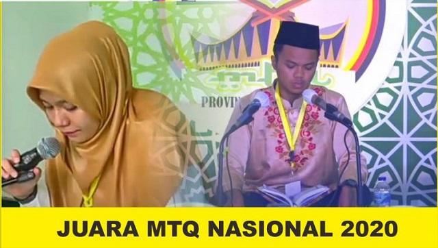 2 Duta Dharmasraya Harumkan Nama Sumbar pada MTQ Nasional