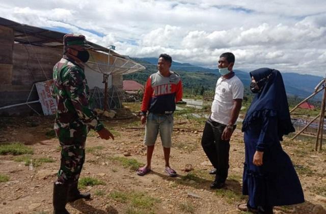 Angin Kencang Rusah Rumah di Pekonina Solok Selatan