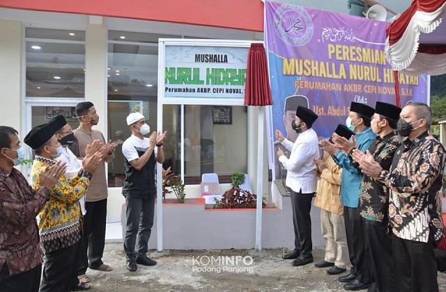 Walikota Padang Panjang Resmikan Musala Nurul Hidayah Kampung Manggis